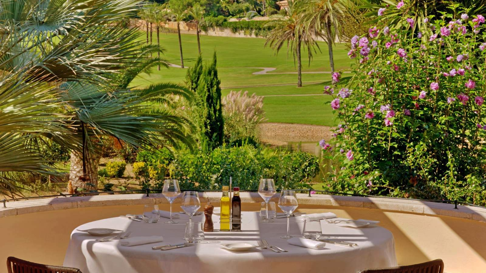 Terrace with views in Palma de Mallorca at Sheraton Arabella Golf Hotel